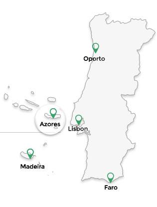 Dmc Portugal Azores - Map portugal madeira azores